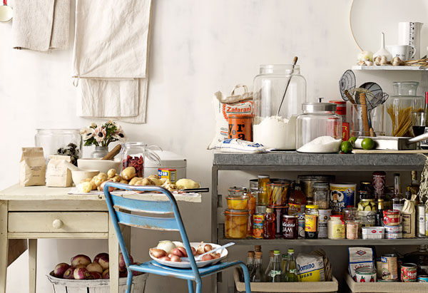 Overstocked kitchen pantry
