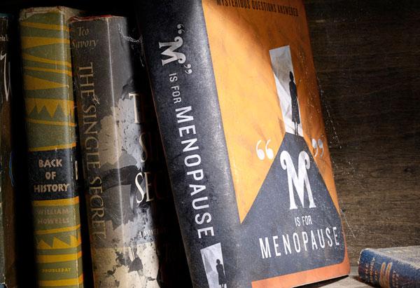 Menopause book on a shelf