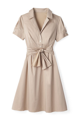 Ann Taylor khaki shirtdress