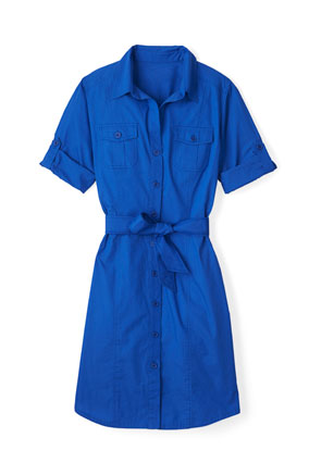 Jones New York blue shirtdress