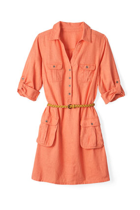 Old Navy coral shirtdress