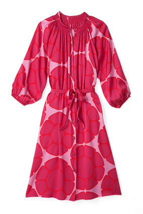 retro-print shirtdress