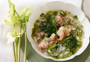 shrimp, pea and rice stew