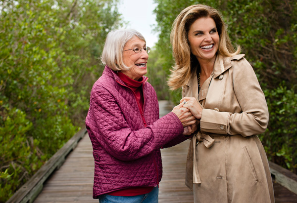 Mary Oliver and Maria Shriver