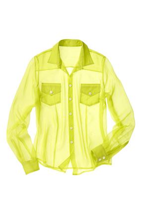 Sheer lime green shirt