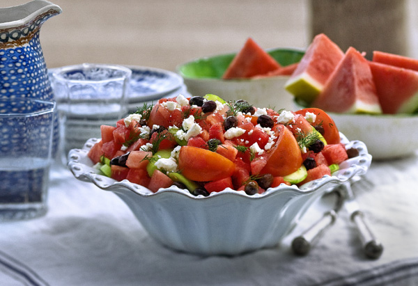 Watermelon and Tomato Salad with Feta Recipe