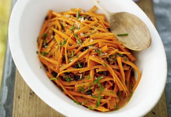 Crisp Carrot Salad with Currants Recipe