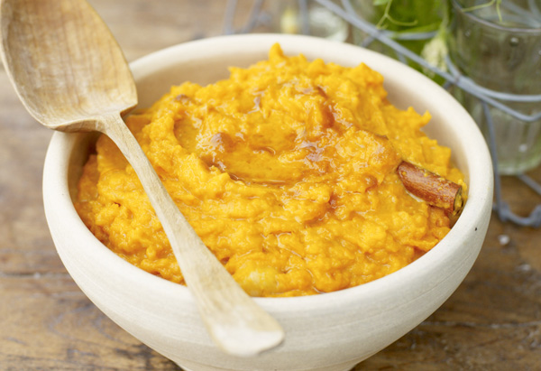 Mashed Sweet Potatoes with Banana and Brown Sugar Recipe