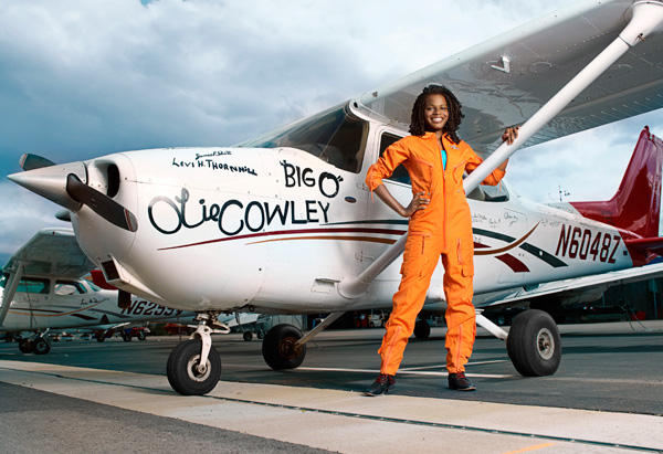 17-year-old pilot Kimberly Anyadike