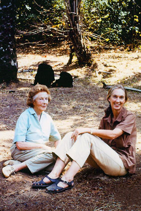 Jane Goodall and her mom