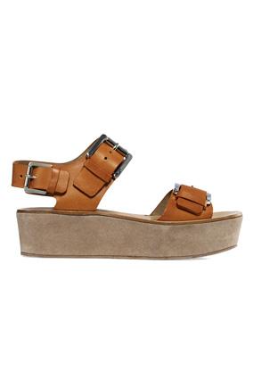 Michael Kors suede-wrapped platform sandal