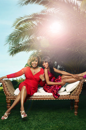 Kerry Washington and Diahann Carroll in red dresses