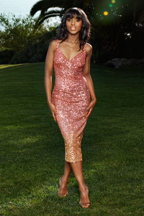Kerry Washington in a sequined slipdress