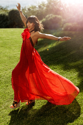 Kerry Washington in a red dress