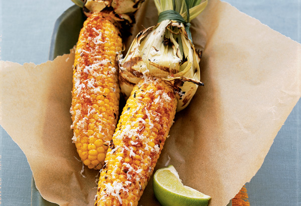 Cuban Grilled Corn on the Cob with Queso Blanco and Lime Recipe