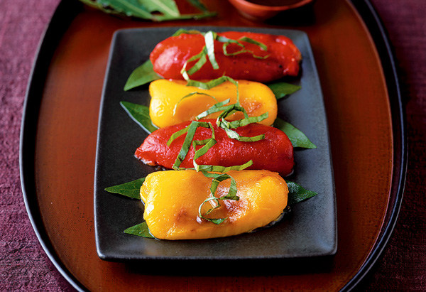 Grilled Peppers with Bay Leaves Recipe