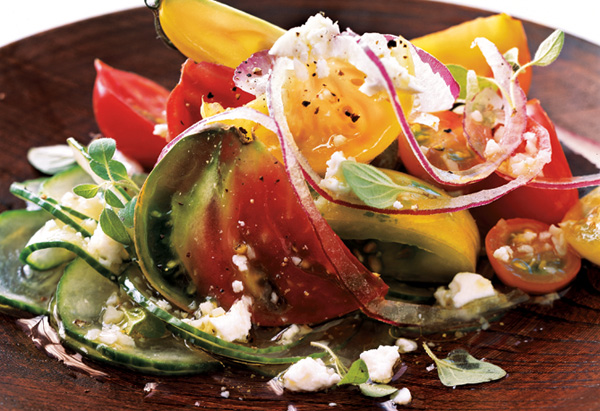 Heirloom Tomato and Fresh Oregano Greek Salad Recipe