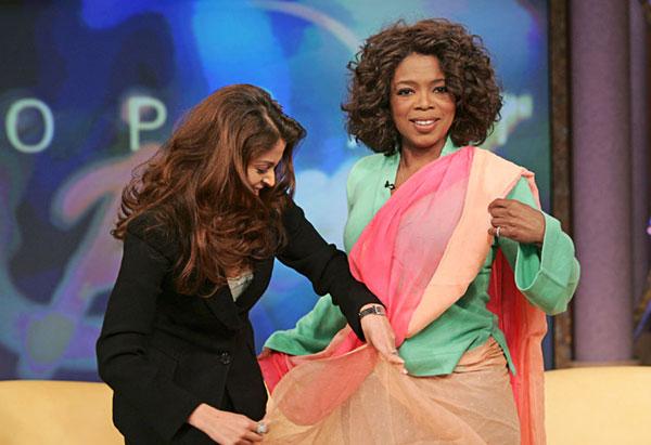 Oprah in a Sari