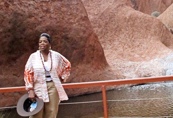 Oprah at Uluru Rock
