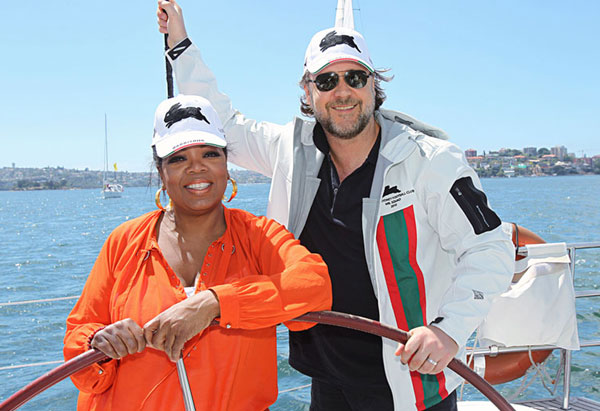 Oprah and Russel Crowe