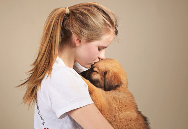 Teen Girl with Dog