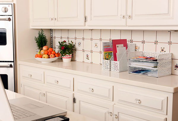 Organized, uncluttered kitchen counter