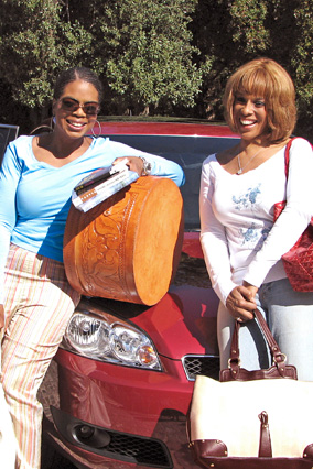 Oprah and Gayle during their cross-country road trip