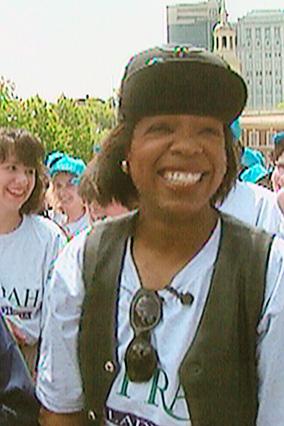 Oprah with her studio audience in Philadelphia