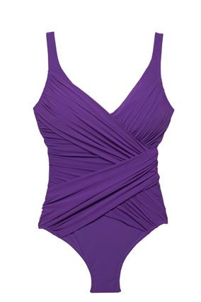 Gottex faux-wrap one-piece swimsuit
