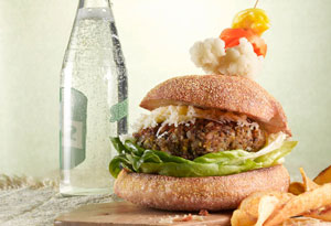 brown rice and lentil burger