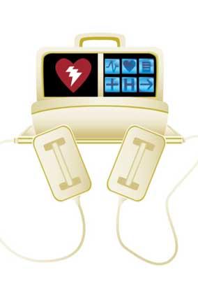 Heart resuscitation monitor