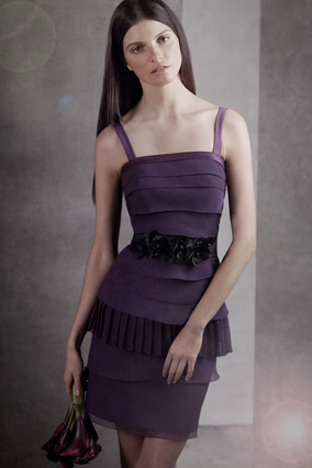 Eggplant Vera Wang Dress