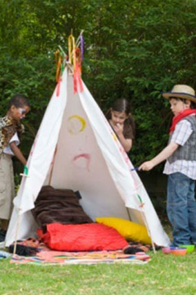 Pitch an Outdoor Tepee