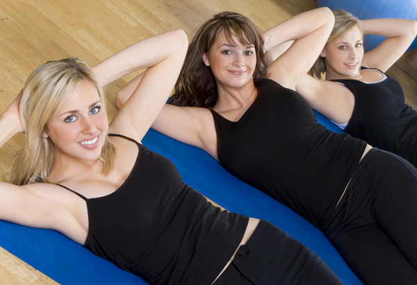 Women abdominal exercises