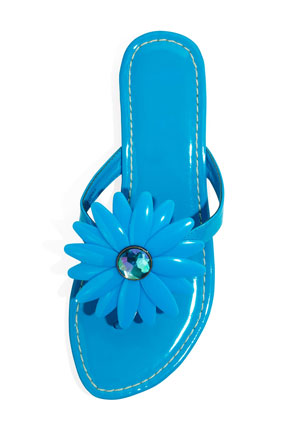 Miss Trish for Target blue daisy wedge sandal