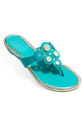 AK Anne Klein patent leather sandal