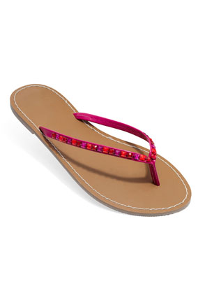 Old Navy thong sandal with rhinestone detail