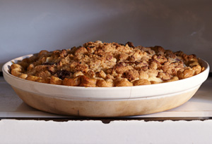 streusel-topped pear and plum pie