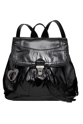 Patent leather Coach backpack