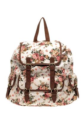 ASOS floral backpack