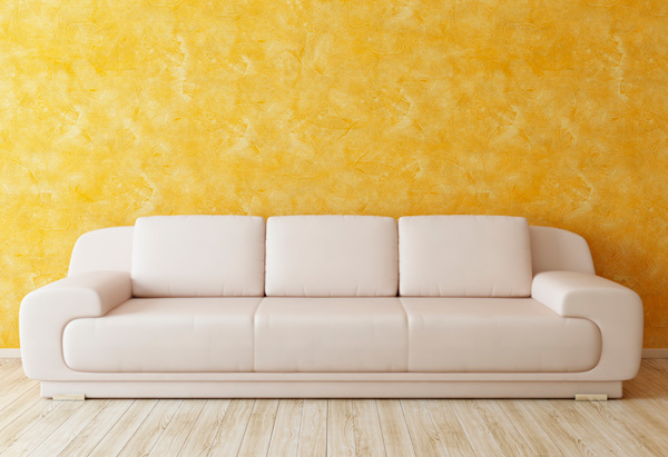 Couch with curved edges