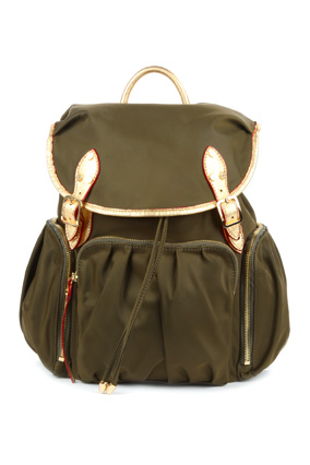 M Z Wallace safari green backpack
