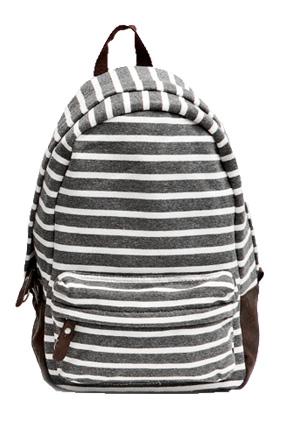 Poketo striped backpack