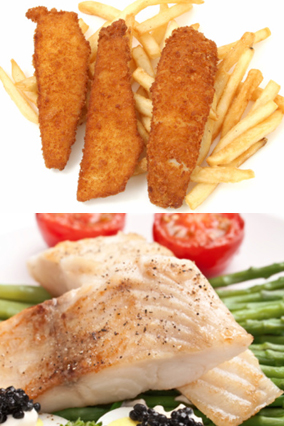Fried fish and steamed fish