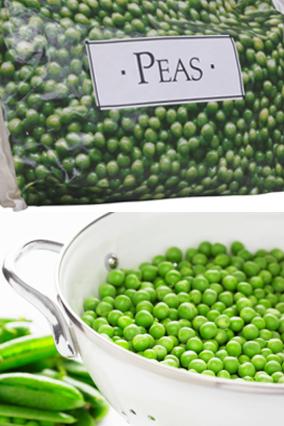 Fresh peas frozen peas