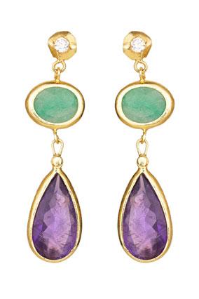 three-tier drop earrings