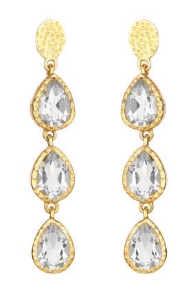 crystal quartz teardrop earrings