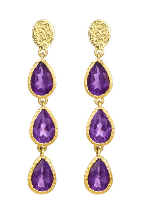 amethyst and gold earrings