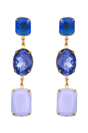 blue multi-stone earrings