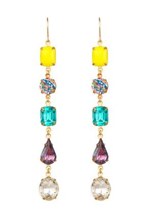 colorful crystal earrings